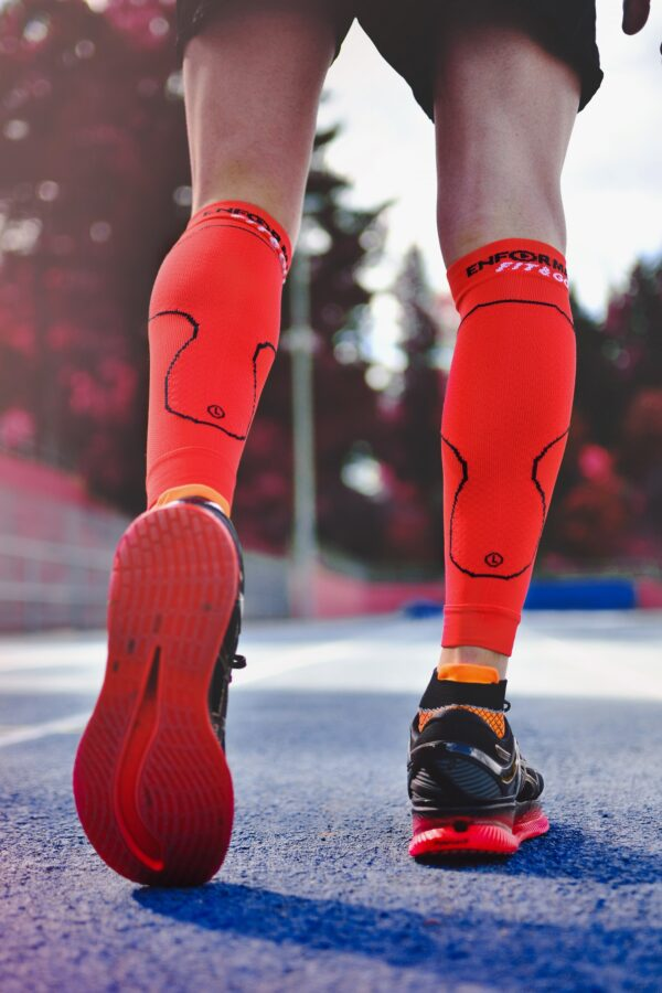 COMPRESSION CALF SLEEVE PROTECT – RED