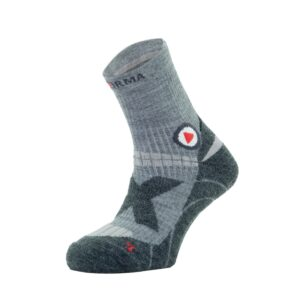 TREKKING SOCKS EVEREST EXTREME – MERINO – GREY/GREEN